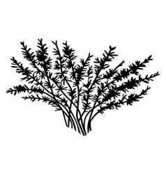 Black silhouette bush shadow plant simple vector