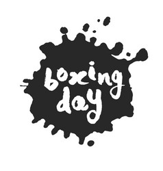 boxing day inside ink blot vector image