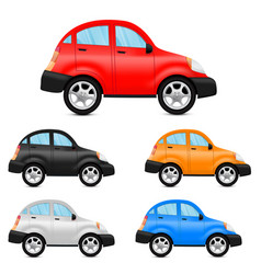 cars colored collection vector image