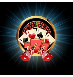 Casino Composition with Roulette Wheel vector