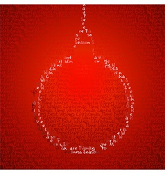 Christmas bauble shape vector image