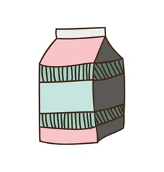 Colorful silhouette with milk carton vector
