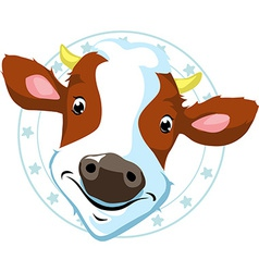 Cow stamp vector