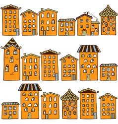 Cute seamless pattern with houses home sweet home vector