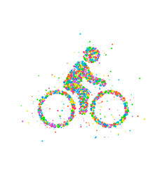 Cyclists abstract biker vector
