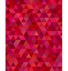 Dark red triangle mosaic background vector