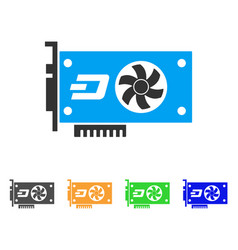 Dash video gpu card icon vector