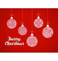 Decorative Christmas balls Xmas greeting card vector image
