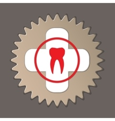 Dentist stomatologist logo label icon medical vector
