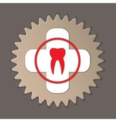 Dentist stomatologist logo label icon Medical vector image vector image