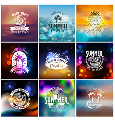 designs for summer beach party vector image