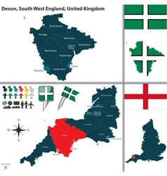 Devon South West England vector