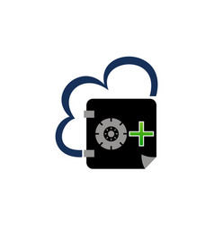 digital document cloud secure vault vector image