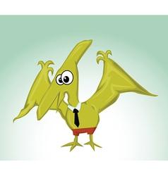 Dinosaur bird vector