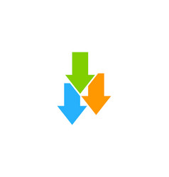 down stock market business logo icon design vector image