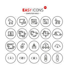 Easy icons 49b computer virus vector