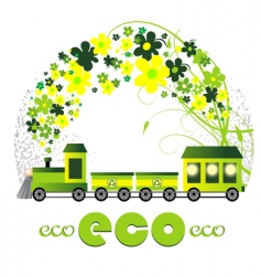 ecology design illustration vector image