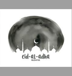 Eid al adha islamic watercolor background vector
