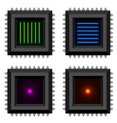 Electronic chip glowing core eps10 vector