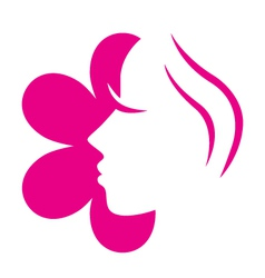female flower face vector image
