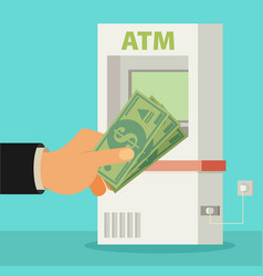 flat atm vector image vector image