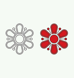 Flower icons in a trendy flat style isolated vector
