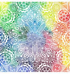 flower mandala design in oriental style vector image