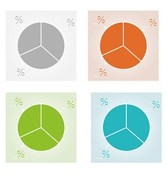 Four color pie charts vector