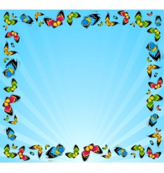 Frame of butterflies vector