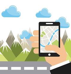 gps app vector image