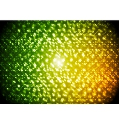 Green orange abstract sparkling background vector