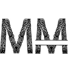 Hand drawn letter m vector