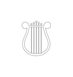 harp flat icon vector image