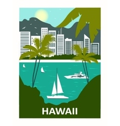 Hawaii USA vector image