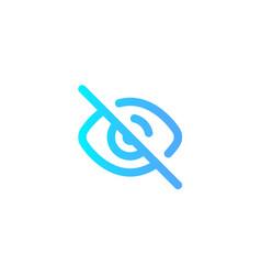 hide icon sign symbol vector image