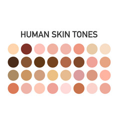 Human skin tone color palette set isolated on vector