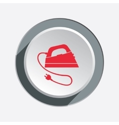 Iron icon Electric appliance for dress smoothing vector