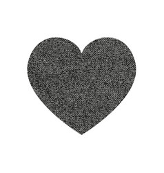 isolated distress grunge heart with concrete vector image