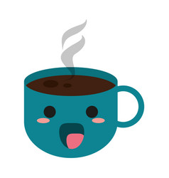 Kawaii coffee mug icon image vector