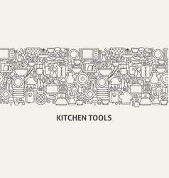 Kitchen tools banner concept vector