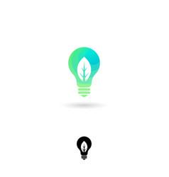 Light bulb ui icon ecology emblem vector