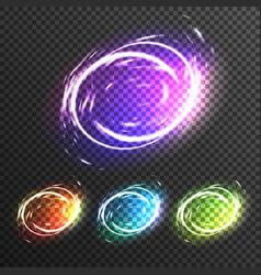 light effects sparkles transparent composition vector image