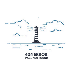 light house 404 vector image