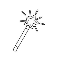 Magic wand icon outline style vector