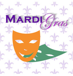 masquerade party mask carnival mask isolated on vector image