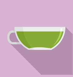 matcha cup tea icon flat style vector image