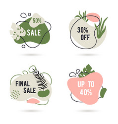 modern abstract shapes set summer sale design vector image