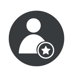 Monochrome round favorite user icon vector