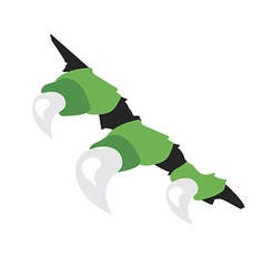 monsters or dragon claws in crack vector image