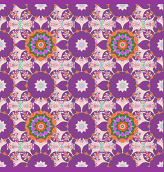 Pattern pattern with spring flowers with branch vector